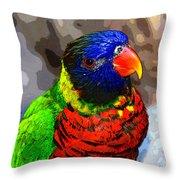 Colors Of The Lorikeet Throw Pillow