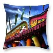 Colors Of The Midway 2 Throw Pillow