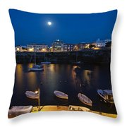 Cala Corb In Es Castell - Minorca - Colors Of The Moonlight   Throw Pillow