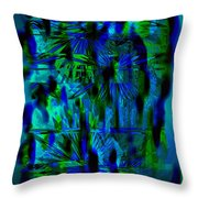 Colors Of The Night Throw Pillow