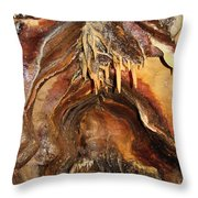 Colors Of The Ohio Caverns Throw Pillow