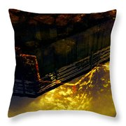 Colors Of The Sound Gold Throw Pillow