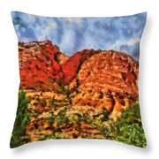 Colors Of Zion Throw Pillow