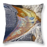 Colors On Rock Throw Pillow