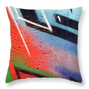 Colors On The Wall Throw Pillow