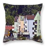 Colorul Houses In Germany Throw Pillow