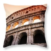 Colosseum Italy Throw Pillow