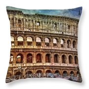 Colosseum Rome Throw Pillow