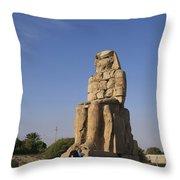 Colossi Of Memnon Egypt Throw Pillow