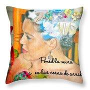 Colossians 3 2 Spanish Throw Pillow