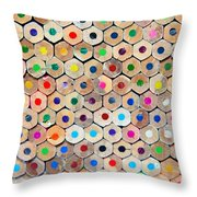 Colour 4 Throw Pillow
