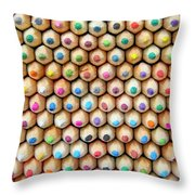 Colour 6 Throw Pillow