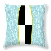 Colour Block Surfboard Throw Pillow