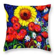 Colour Cluster Throw Pillow