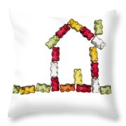 Coloured Jellybabies Formed As A House Throw Pillow