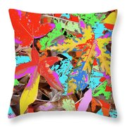 Coloured Leaves By M.l.d. Moerings  2009 Throw Pillow