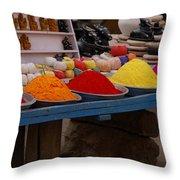 Coloured Powder Throw Pillow