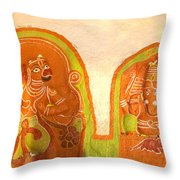 Coloured Reliefs Throw Pillow