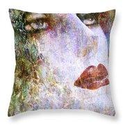 Coloured Woman Throw Pillow