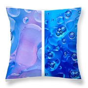 Colourful Bubble Abstract Quadriptych Throw Pillow