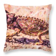 Colourful Chameleon Throw Pillow