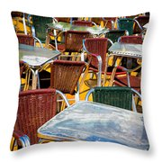 Colourful Confusion Throw Pillow