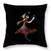 Colourful Dancer  Throw Pillow