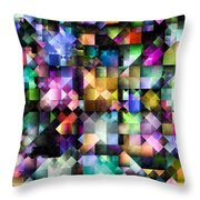 Colourful Fractal Jewels Throw Pillow