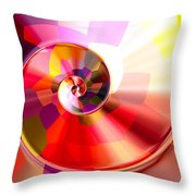 Colourful Tiled Spiral Throw Pillow