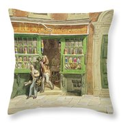 Colourmans Shop, St Martins Lane, 1829 Wc On Paper Throw Pillow