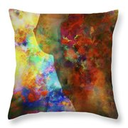 Colours Of Eve Throw Pillow