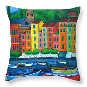Colours Of Portofino Throw Pillow