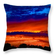 Colours Of Sunset Throw Pillow
