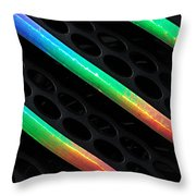 Colours Of The Rainbow  Throw Pillow