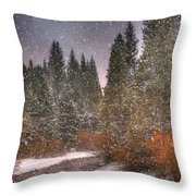 Colours Of Winter Throw Pillow by Juli Scalzi