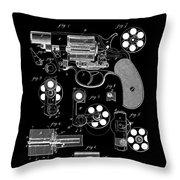 Colt Revolver Patent Art 2  -  1881 Throw Pillow