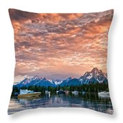 Colter Bay Sunset Throw Pillow