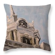 Columbia Courthouse On A Clear Day Throw Pillow