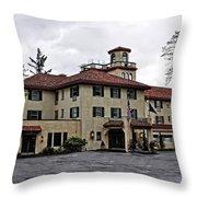 Columbia Gorge Hotel Throw Pillow