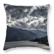 Columbia River Throw Pillow