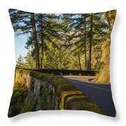 Columbia River Gorge Highway Throw Pillow