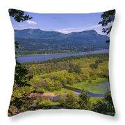 Columbia River Gorge - Oregon Throw Pillow
