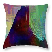 Columbia Tower Cubed 1 Throw Pillow