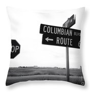 Columbian Boulevard Throw Pillow
