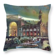 Columbian Expo, Electricity Building Throw Pillow