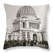 Columbian Exposition Chocolat 1893 Throw Pillow