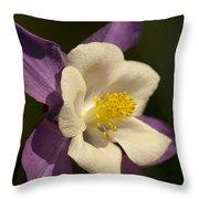 Columbine Floral Throw Pillow