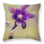 Columbine Flower Throw Pillow