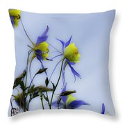 Columbines Throw Pillow