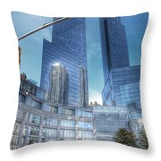 New York - Columbus Circle - Time Warner Center Throw Pillow